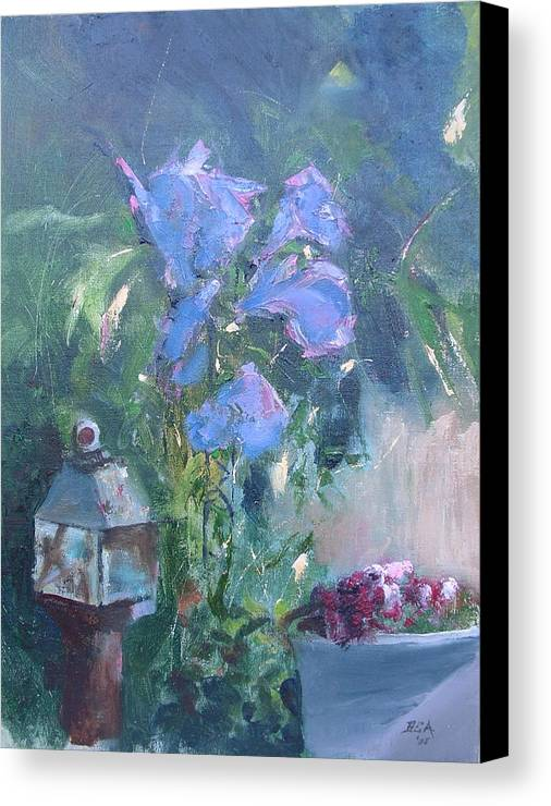 Flowers. Garden Canvas Print featuring the painting Morning Glory by Bryan Alexander