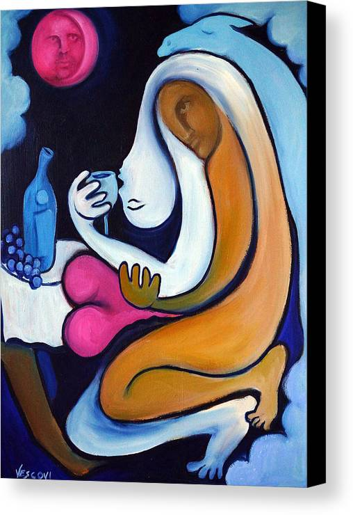 Abstract Canvas Print featuring the painting Never Tear Us Apart by Valerie Vescovi