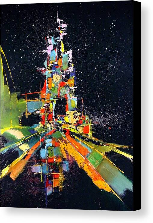 Abstract Canvas Print featuring the painting Night Carnival by Ronald Dykes