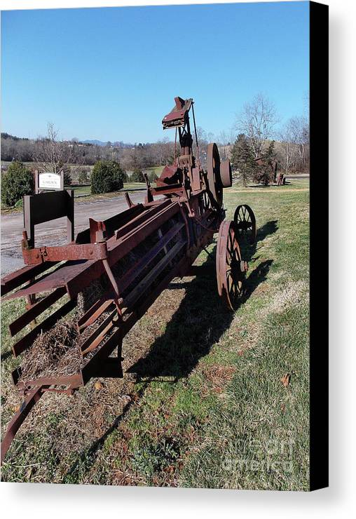 Scenic Tours Canvas Print featuring the photograph Old Iron by Skip Willits
