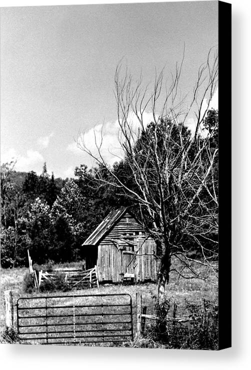 Canvas Print featuring the photograph Oldshack by Curtis J Neeley Jr