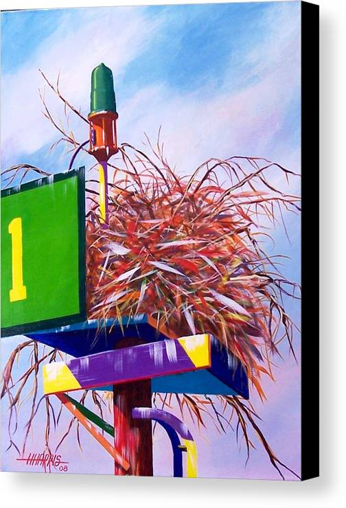 Nature Canvas Print featuring the painting Osprey Nest by Hugh Harris