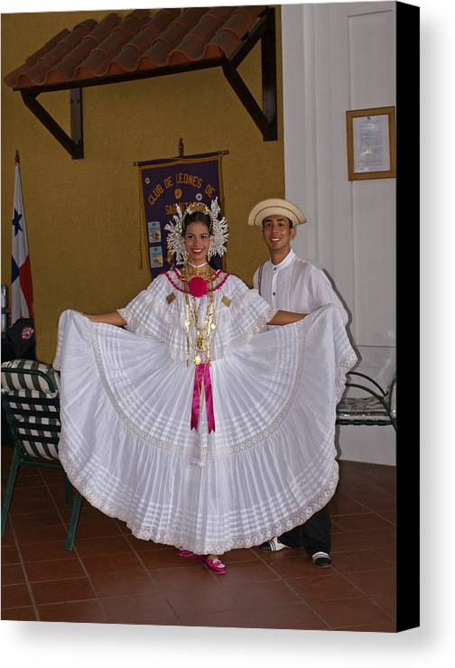 Greeters Canvas Print featuring the photograph Panama Greetings by Heather Coen