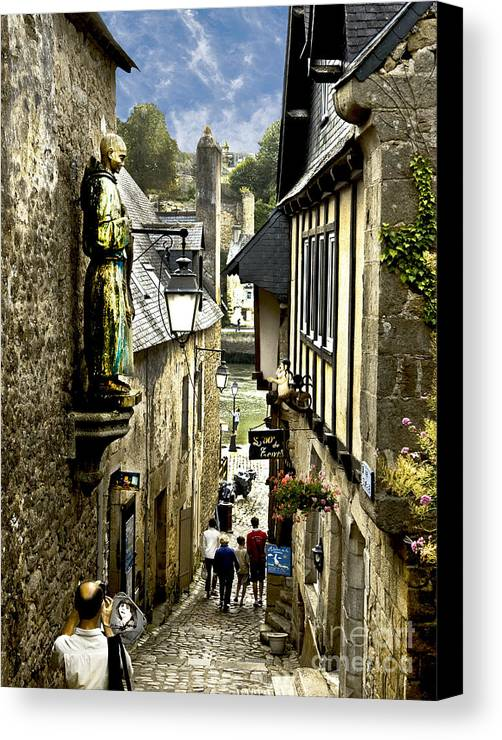 Architecture Canvas Print featuring the photograph Passage To The Port Of St Goustan by Mark Hendrickson
