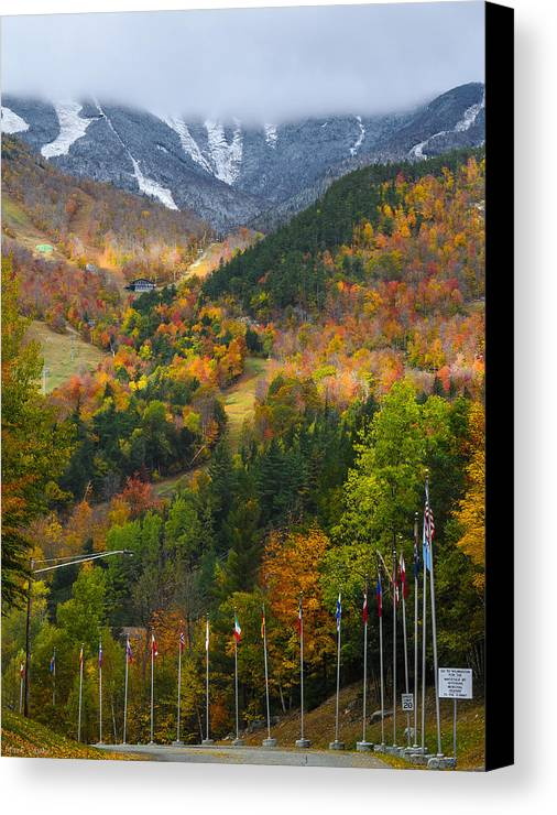 Mountain Canvas Print featuring the photograph Peaked by Mark Papke