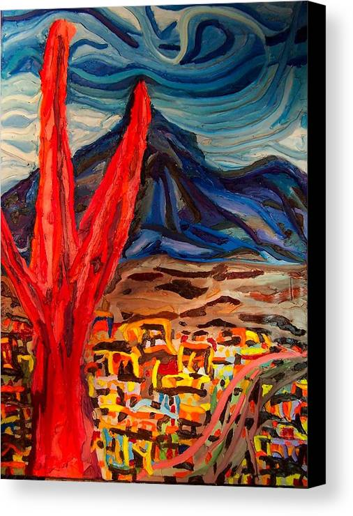 Canvas Print featuring the painting Phoenix Rising by Ira Stark