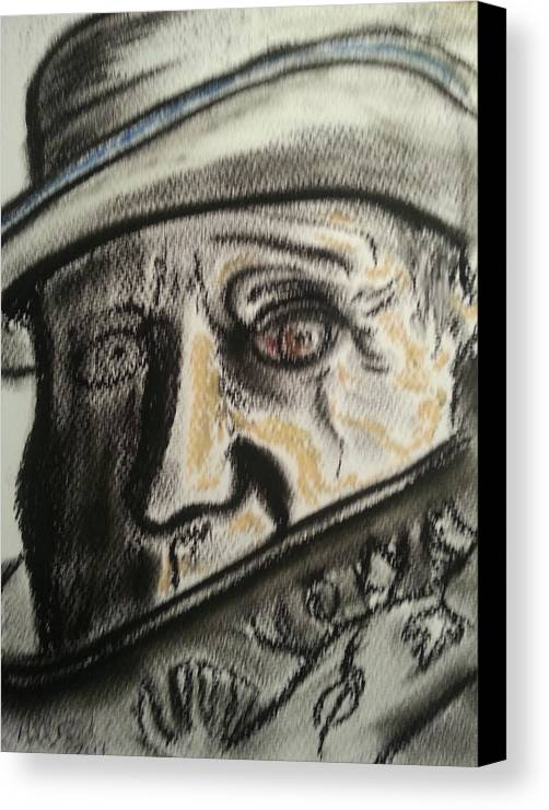 #pablo #picasso #artist #cubist #blueperiod #sketch #torontonian #collection Canvas Print featuring the drawing Picasso by Michael David