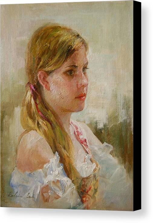 Portrait Canvas Print featuring the painting Portraiture by Kelvin Lei