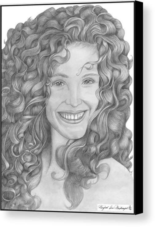 Portraits Canvas Print featuring the drawing Pretty Woman by Winifred Ann Weishampel