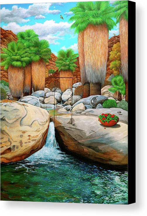 Landscape Canvas Print featuring the painting Primary Escape Route by Snake Jagger