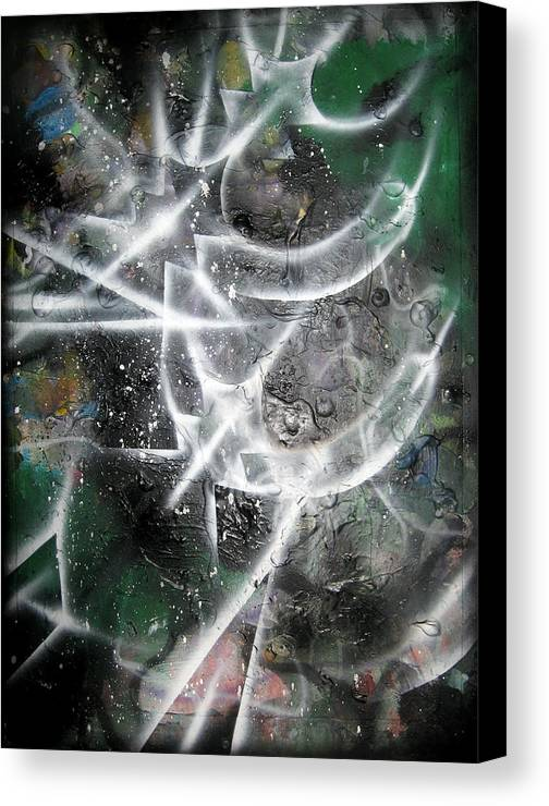 Modern Canvas Print featuring the painting Rebirth4 by Leigh Odom