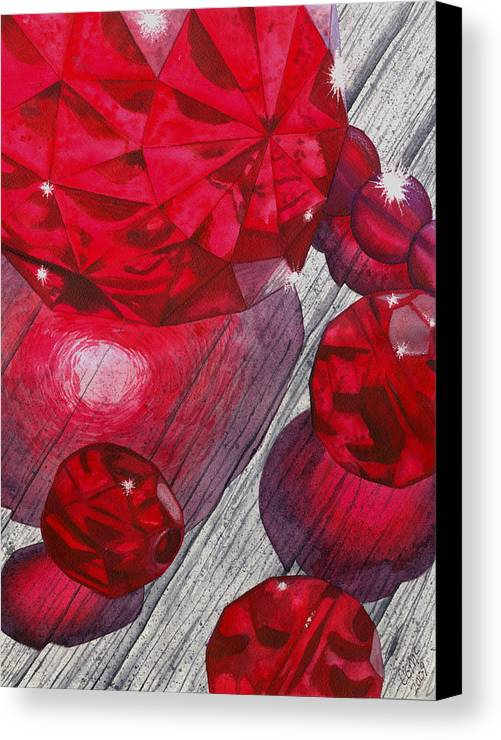 Red Canvas Print featuring the painting Red by Catherine G McElroy
