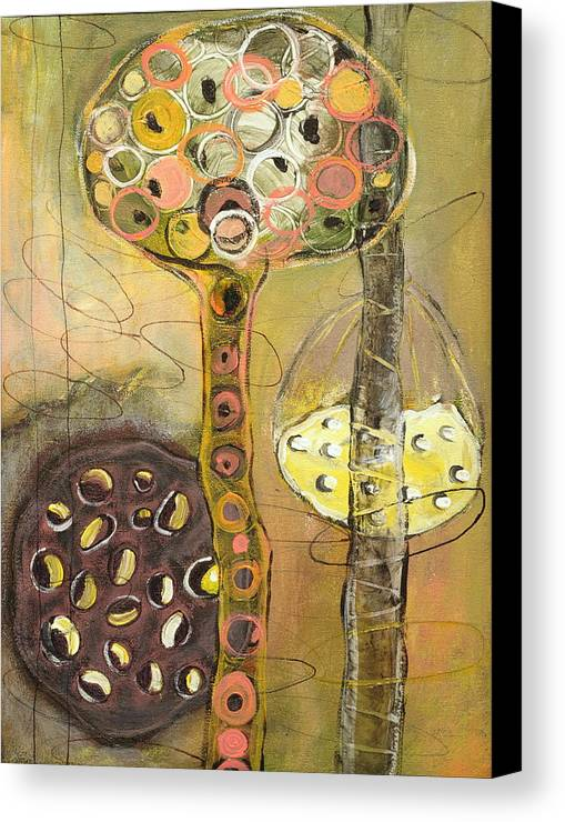 Orgnaic Canvas Print featuring the painting Regenerate by Angela Dickerson