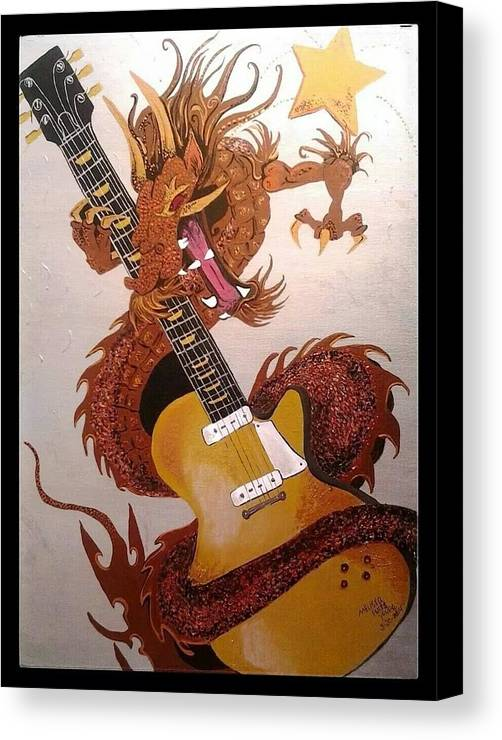 Dragon Canvas Print featuring the painting Rocking Dragon by Melissa Young