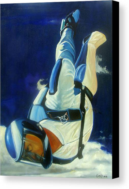 Figure Canvas Print featuring the painting Rogue by T Ezell