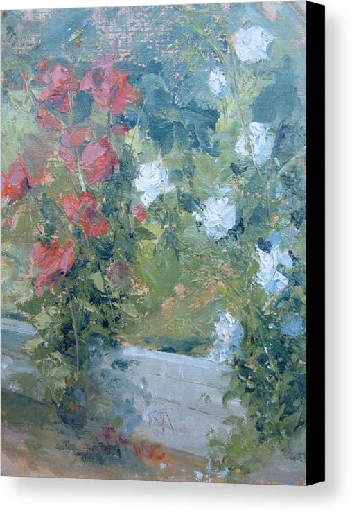 Roses In California Garden Canvas Print featuring the painting Rose Garden by Bryan Alexander