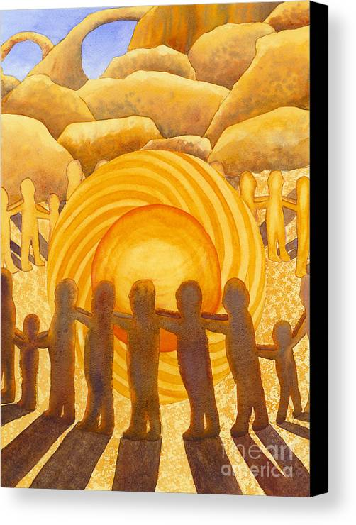 Chakra Canvas Print featuring the painting Sacral Chakra by Catherine G McElroy