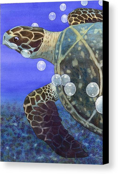 Turtle Canvas Print featuring the painting Sea Turtle by Catherine G McElroy