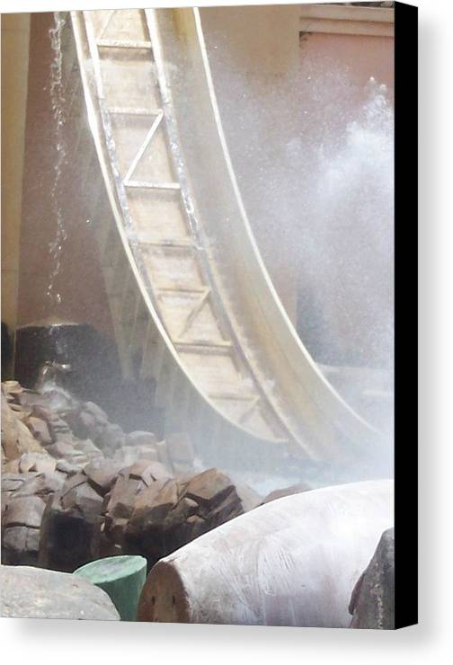 Slide Canvas Print featuring the photograph Slide Splash by Pharris Art