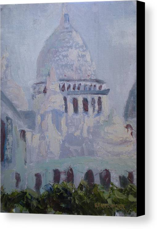 Paris Canvas Print featuring the painting Socrecoeur by Bryan Alexander