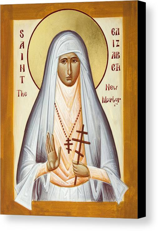 St Elizabeth The New Martyr Canvas Print featuring the painting St Elizabeth The New Martyr by Julia Bridget Hayes