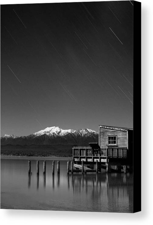 Time Lapse Canvas Print featuring the photograph Starlight Lagoon by Peter Prue