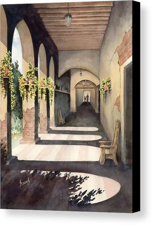 Plants Canvas Print featuring the painting The Corridor 2 by Sam Sidders