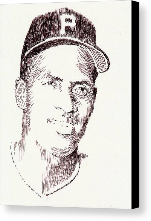 Pen Canvas Print featuring the drawing The Great One by Robbi Musser