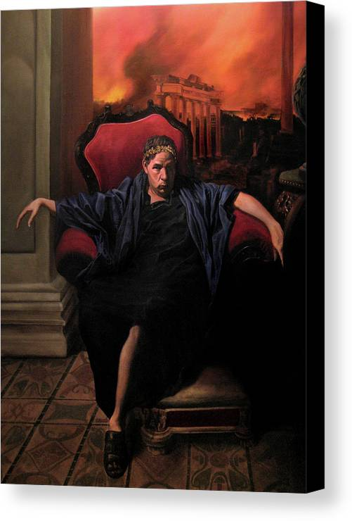 Figurative Art Canvas Print featuring the painting The Madness Of Nero by Eric Armusik