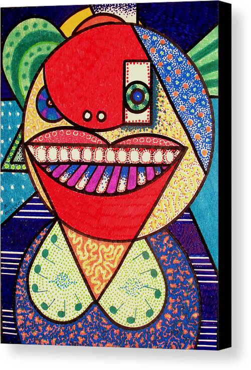 Cubism Canvas Print featuring the painting The Pianist by Bill Meeker