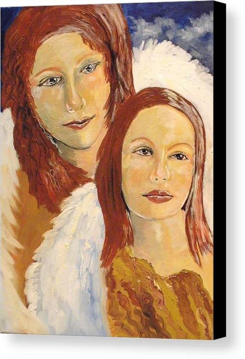 Mother Canvas Print featuring the painting Together by J Bauer