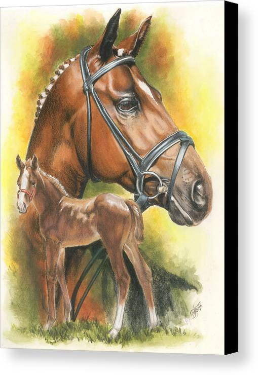 Equus Canvas Print featuring the mixed media Trakehner by Barbara Keith