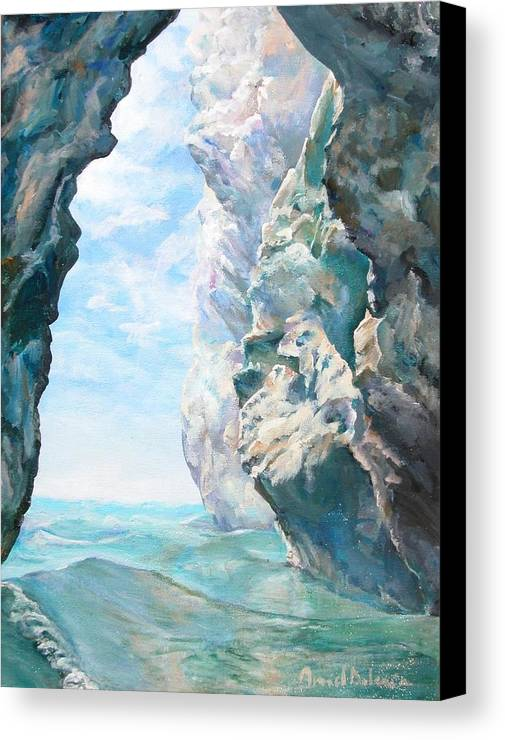 Landscape Paintings Canvas Print featuring the painting Trouee 2 by Muriel Dolemieux