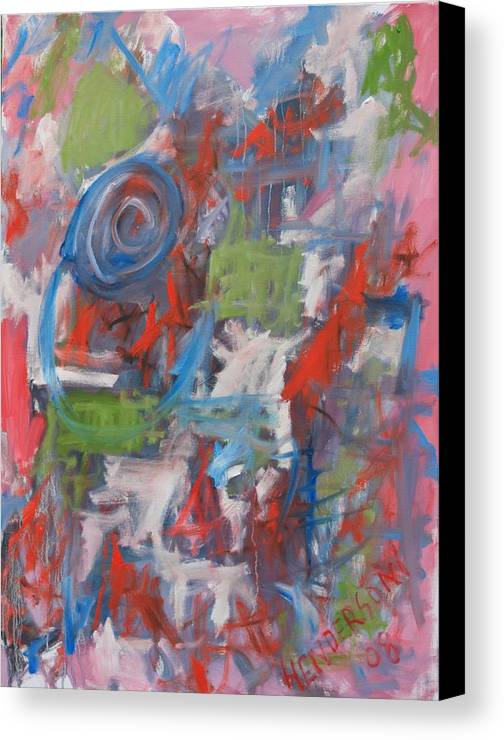 Abstract Canvas Print featuring the painting Venice Abstract I by Michael Henderson