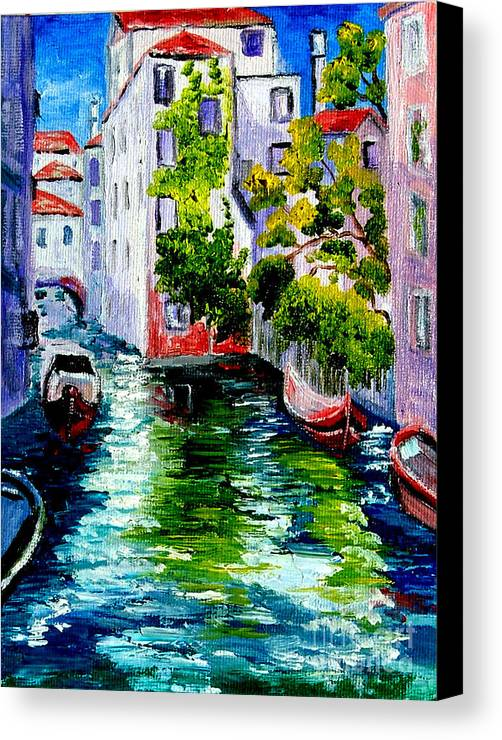 Venice Canvas Print featuring the painting Venice Reflection by Inna Montano