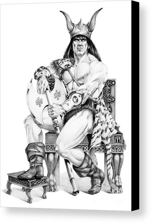 Viking Canvas Print featuring the painting Viking Warrior by Melissa A Benson