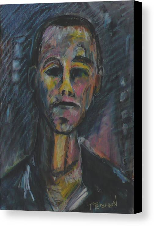 Portrait Canvas Print featuring the painting What Now He Asks by Todd Peterson