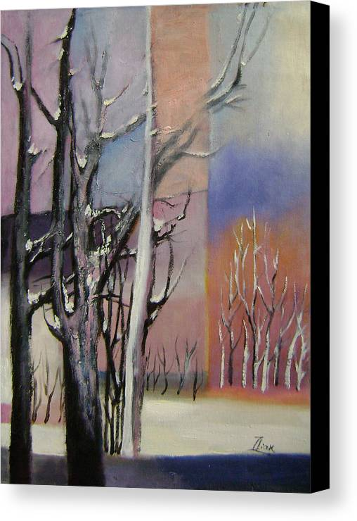 Abstract Canvas Print featuring the painting Winter by Lian Zhen