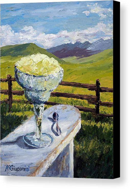 Oil Canvas Print featuring the painting With Salt by Mary Giacomini