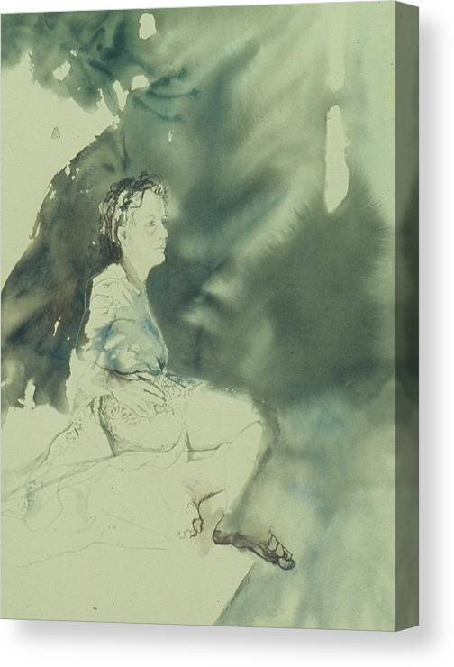 Light Canvas Print featuring the painting Annunciation by Chae Min Shim