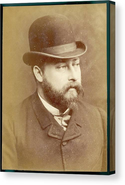 Edward Canvas Print featuring the photograph Edward Vii, British Royalty As Prince by Mary Evans Picture Library