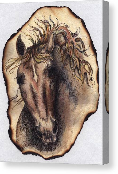 Horses Canvas Print featuring the painting Burned Art by Jodi Bauter