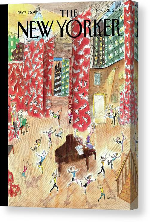 Dance Canvas Print featuring the painting Tiny Dancers by Jean-Jacques Sempe