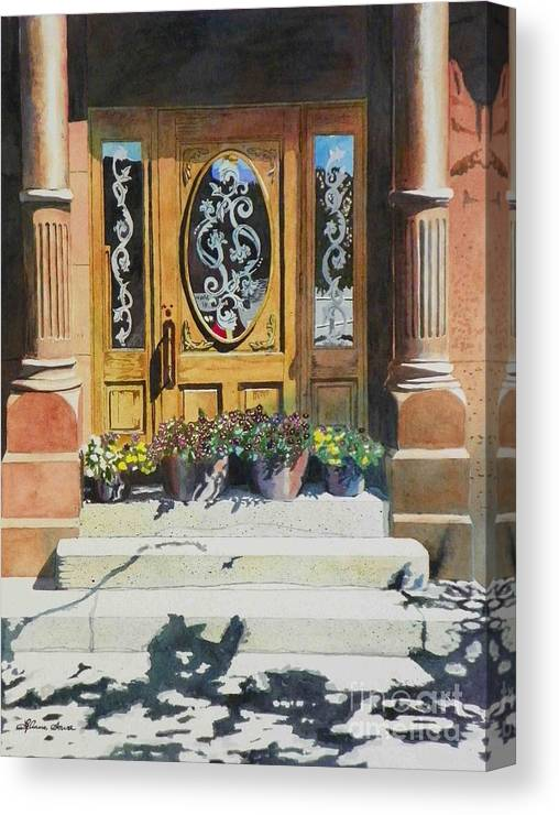Doors Canvas Print featuring the painting Clementines Door by LeAnne Sowa