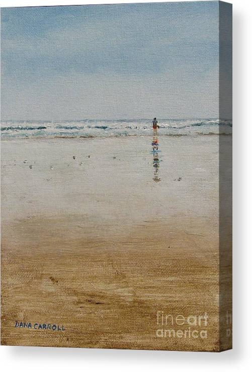 Ocean Canvas Print featuring the painting Ebb Tide by Dana Carroll