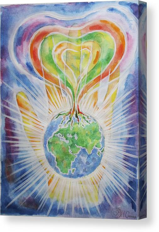 Flowering Of The Earth Canvas Print featuring the painting Flowering Of The Earth by Natalia Smoliar