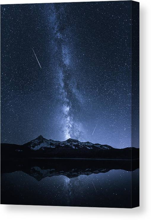 Colorado Canvas Print featuring the photograph Galaxies Reflection by Toby Harriman