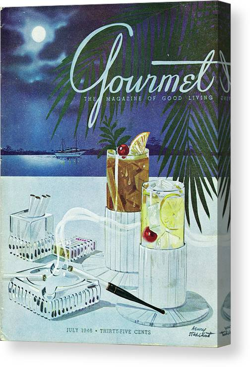 Boat Canvas Print featuring the photograph Gourmet Cover Of Cocktails by Henry Stahlhut
