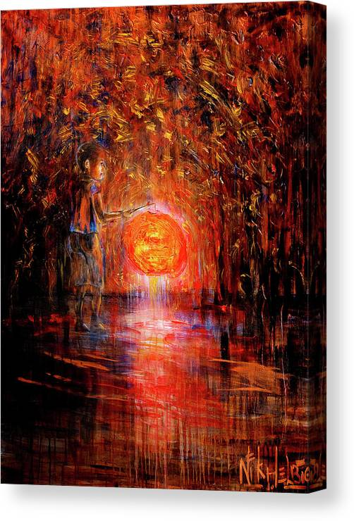 Lantern Canvas Print featuring the painting Light by Nik Helbig