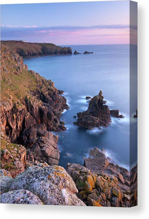 Scenics Canvas Print featuring the photograph Looking Towards Lands End From The by Adam Burton / Robertharding